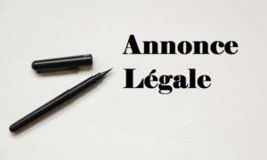 annonce légale en ligne